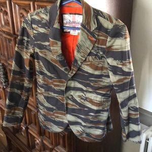Boden camo blazer style jacket, age 9-10Y